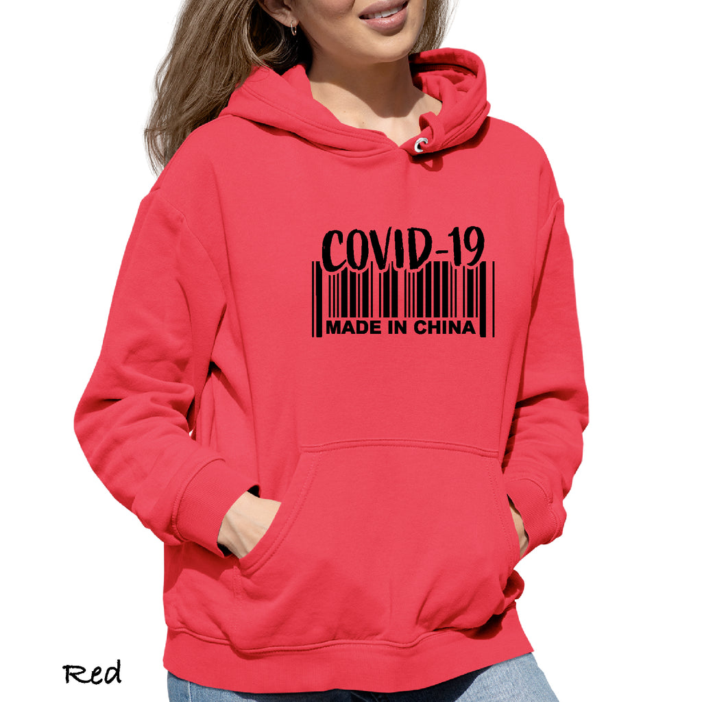 Woman's Hoodie COVID MADE IN CHINA Virus, Funny, 19, Outdoors funny Sweatshirt