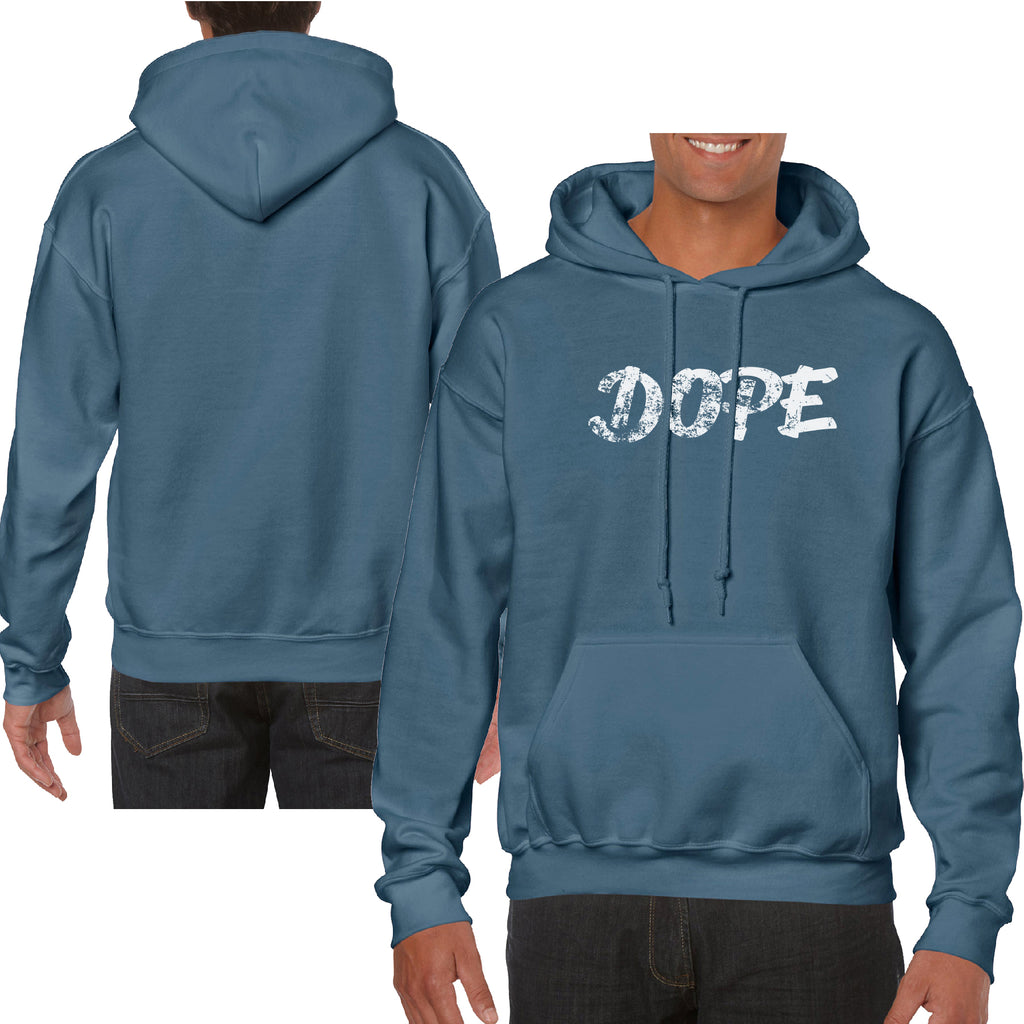 Dope Stoned Funny Front Print Hoodie