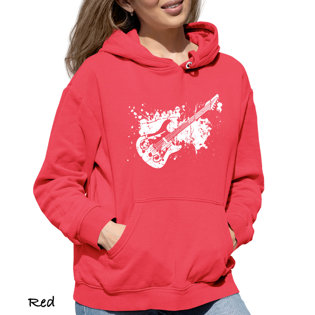 Woman's Hoodie ELECTRIC GUITAR Graphic Gift Idea Funny Novelty Hooded Sweatshirt