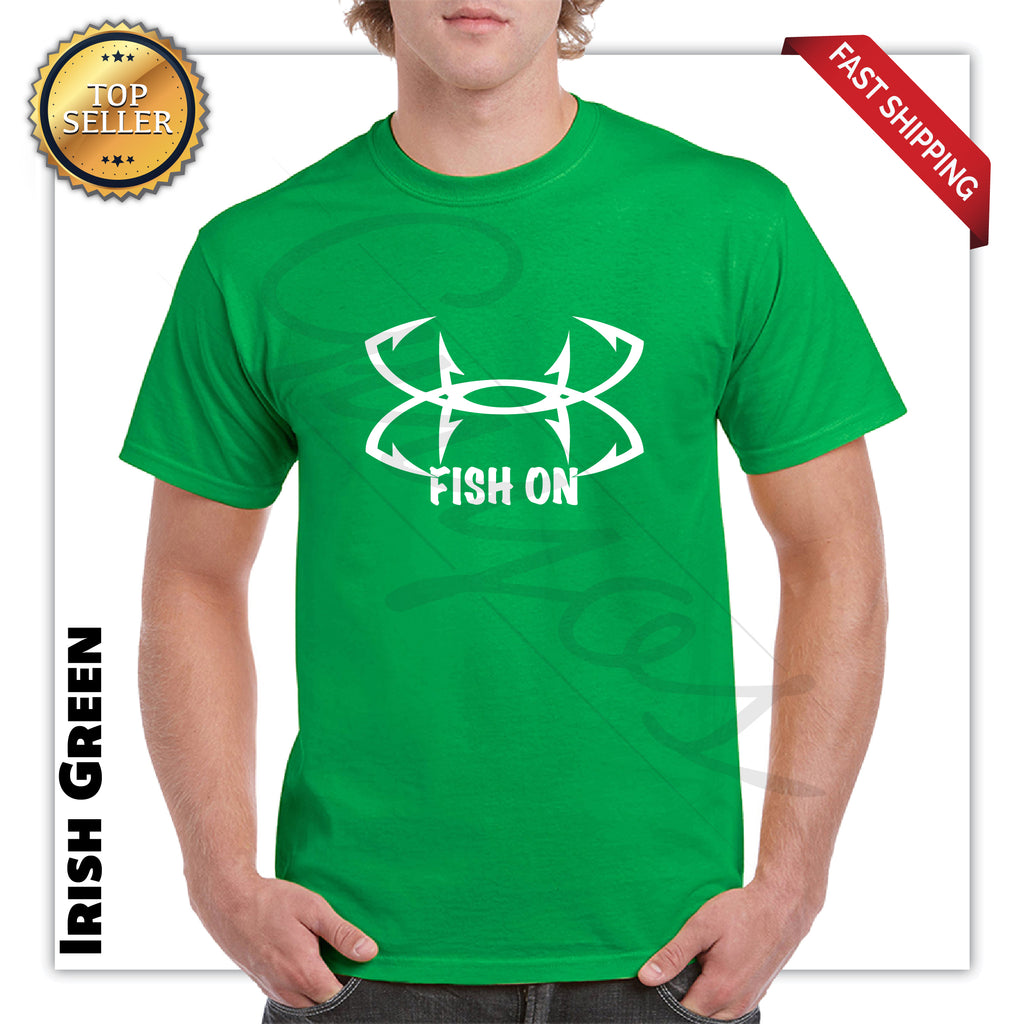 Funny Fish On Logo Men's Graphic T-Shirt