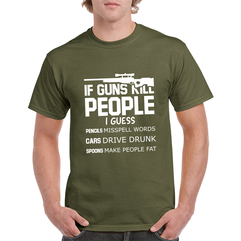 Funny Guns tee Pro Gun T-Shirt 2nd Amendment Bullets, AR15 Gun Rights Video Gamer Humor Joke for Men & Women T-Shirt - guyos apparel.com