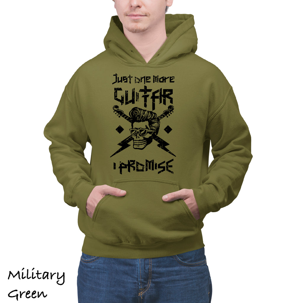 Hoodie JUST ONE MORE GUITAR Adult Graphic Gift Idea Funny Novelty Hooded Sweatshirt