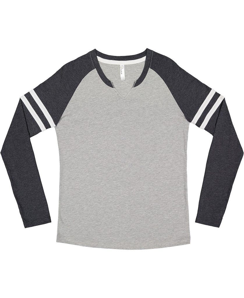 LAT Ladies' Vintage Fine Jersey Gameday Mash-Up Long Sleeve Tee LA3534 - guyos apparel.com