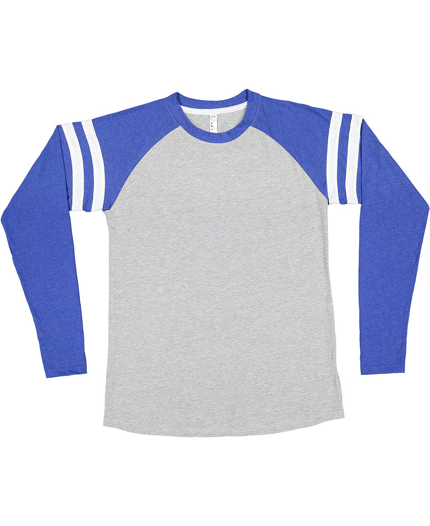 LAT Men's Gameday Mash-Up Long Sleeve Vintage Fine Jersey Tee LA6934 - guyos apparel.com