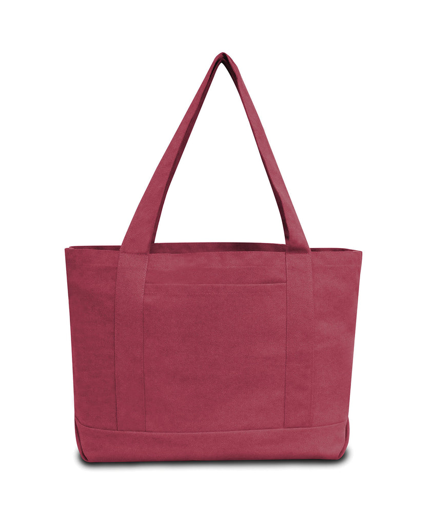 Liberty Bags Seaside Cotton 12 oz Pigment Dyed Boat Tote LB8870 - guyos apparel.com