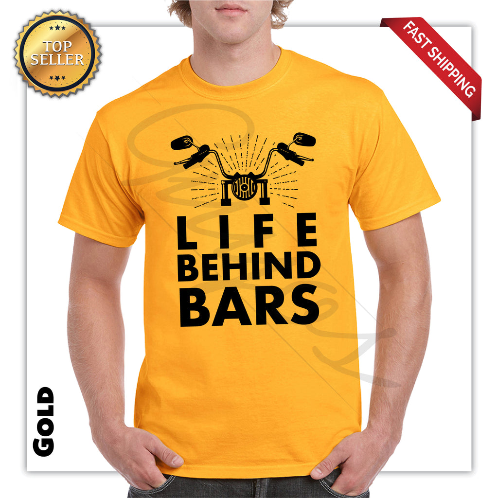 Life Behind Bars Very Funny Printed Men's T-Shirt - guyos apparel.com