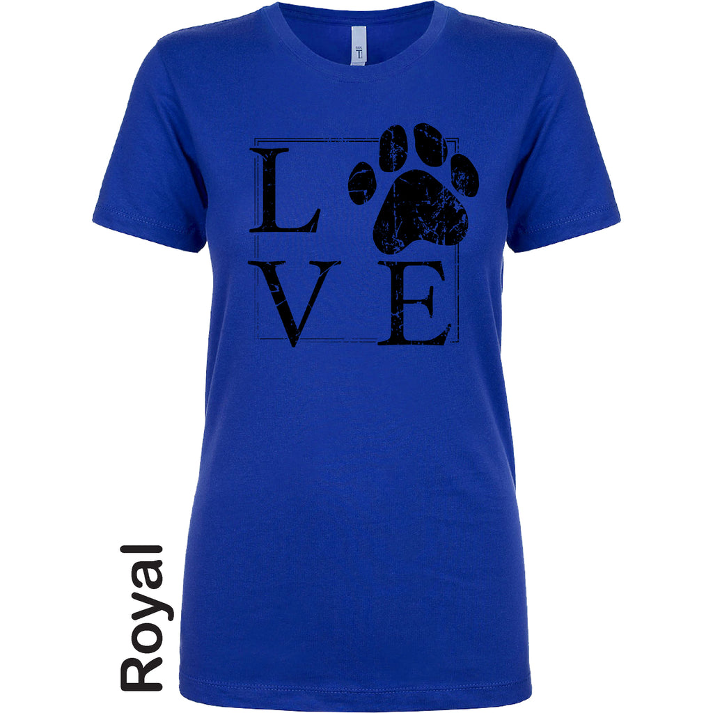 LOVE Paw out the box dog lover Funny Mother's Day Black Distressed Gift Soft style