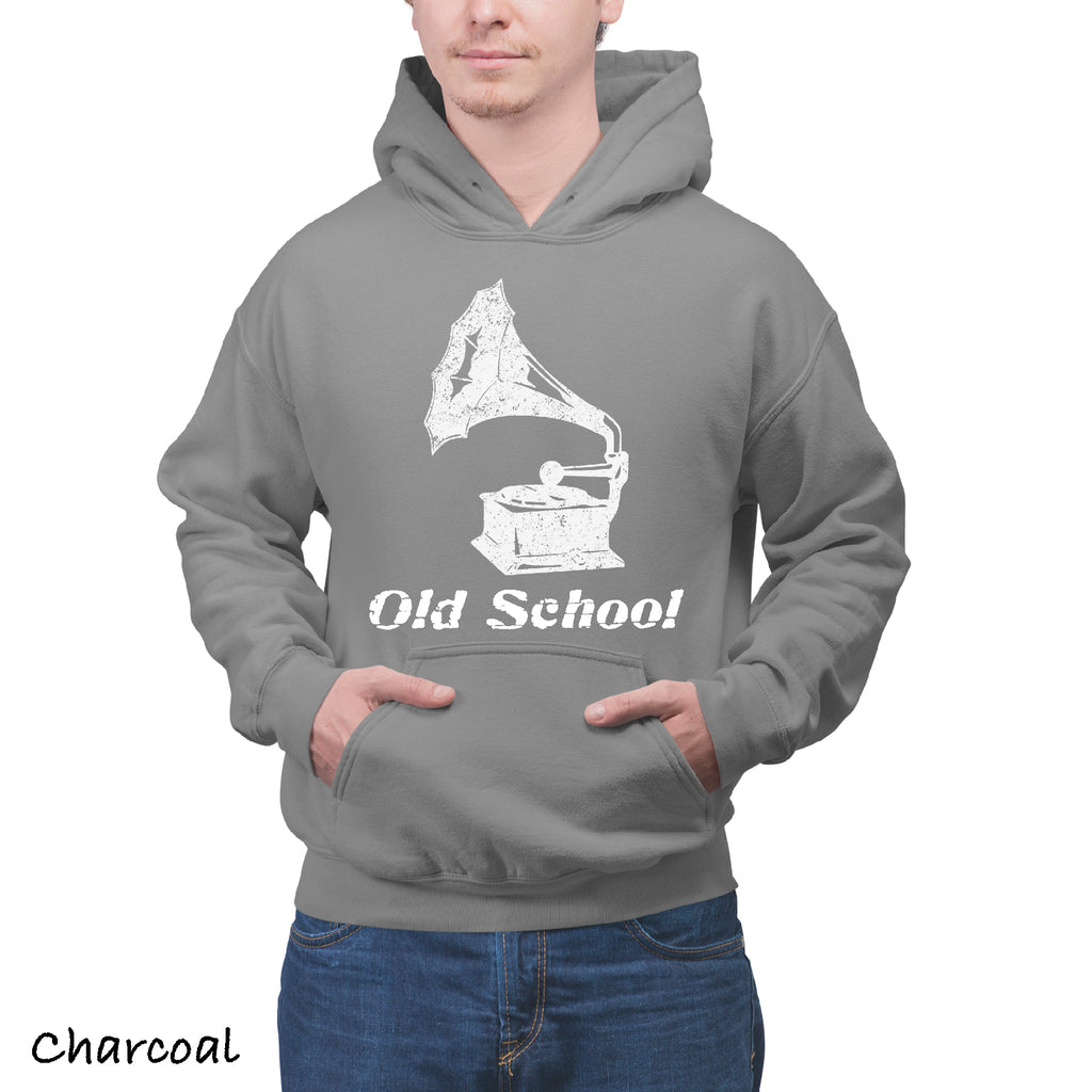 Unisex Hoodie OLD SCHOOL Record Player Great Gift Dad Father PAPA Hooded Sweatshirt