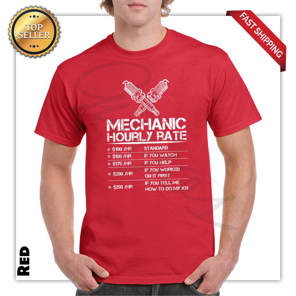 Funny Mechanic Printed Men's Graphic T-Shirt