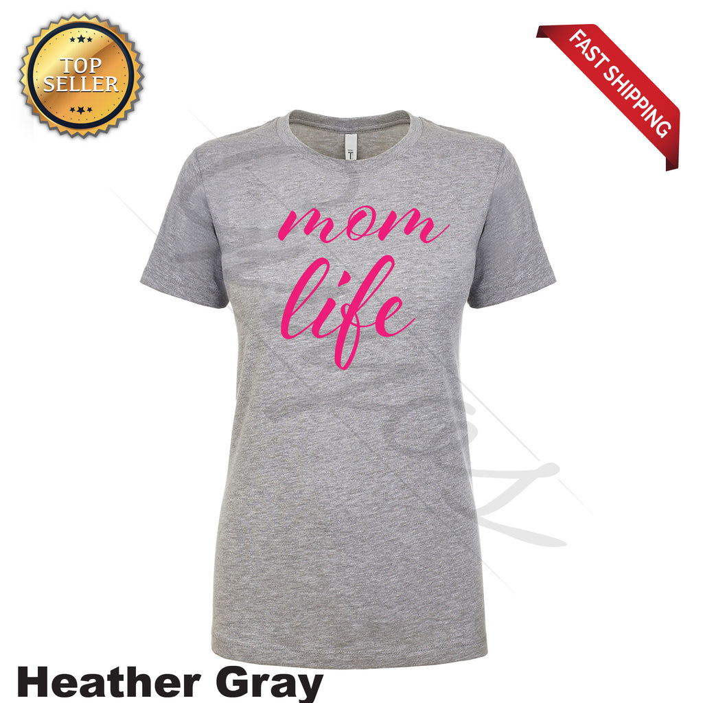 Mom Life Printed T-Shirt - guyos apparel.com