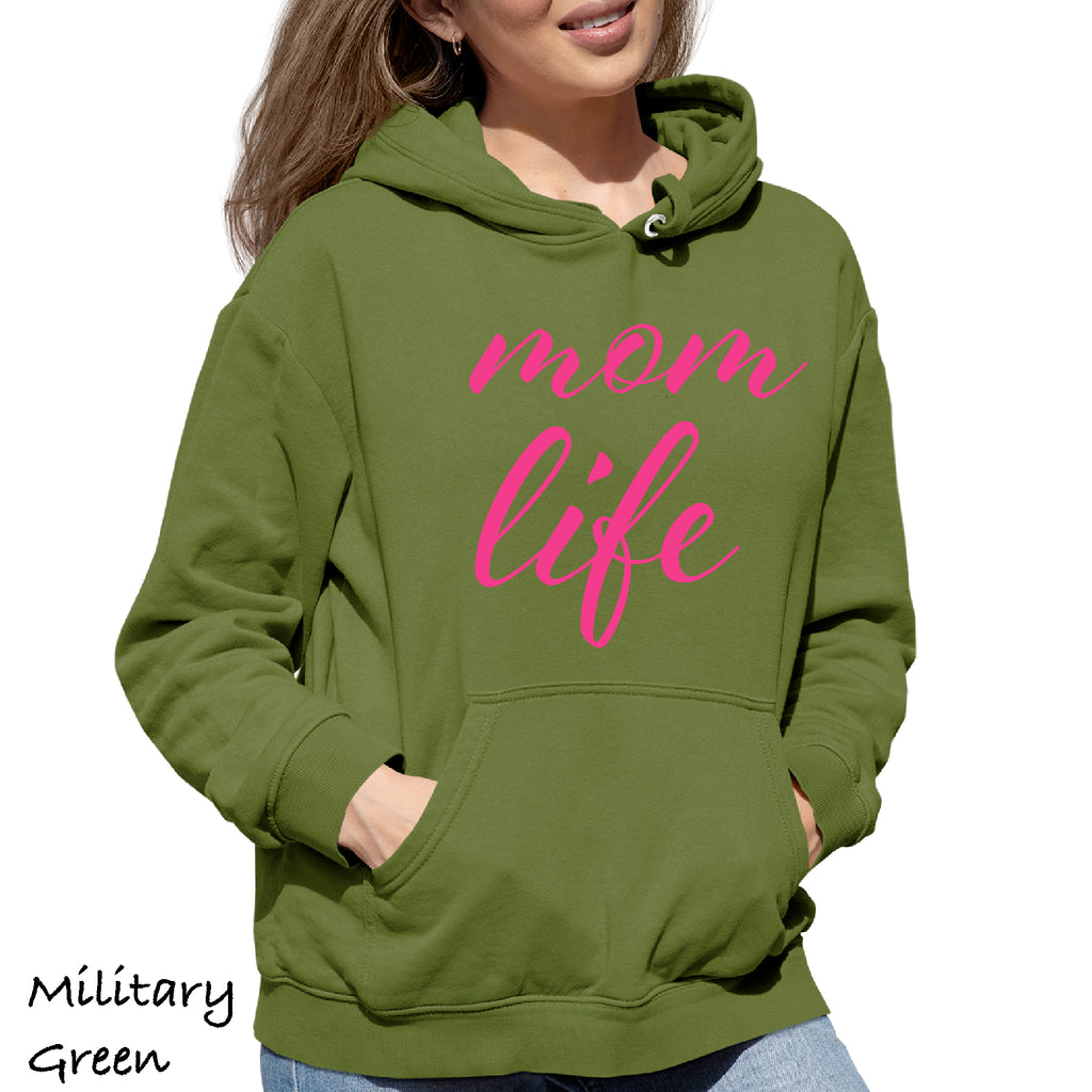 Woman's Hoodie MOM LIFE Mother gift Funny sarcastic Gift Hooded Sweatshirt