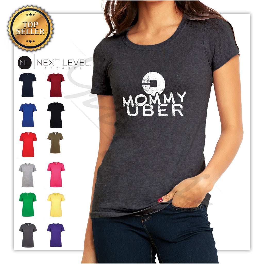 Mommy Uber Funny Printed T-Shirts