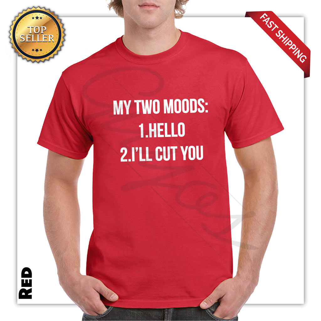 Two Moods Men's Funny Printed Graphic T-Shirt