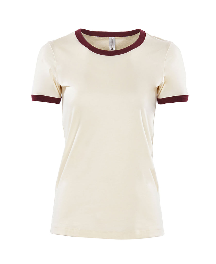 Next Level Women's Cotton Ringer Tee NL3904 - guyos apparel.com