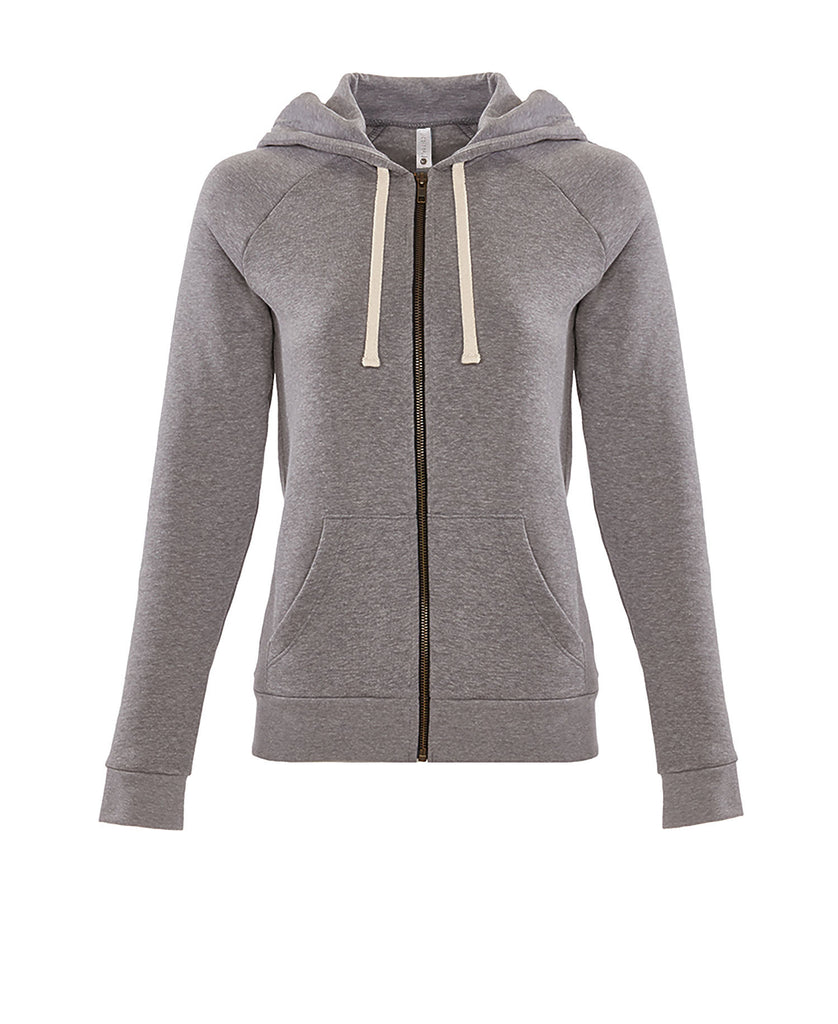 Next Level Women's PCH Raglan Zip Hoody NL9603 - guyos apparel.com