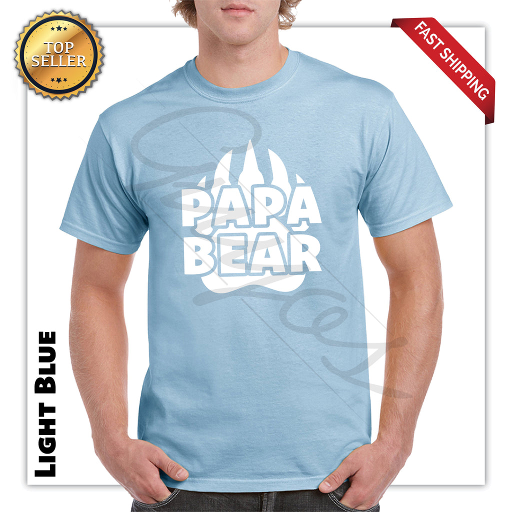 Papa Bear Adult Printed Funny T-Shirt