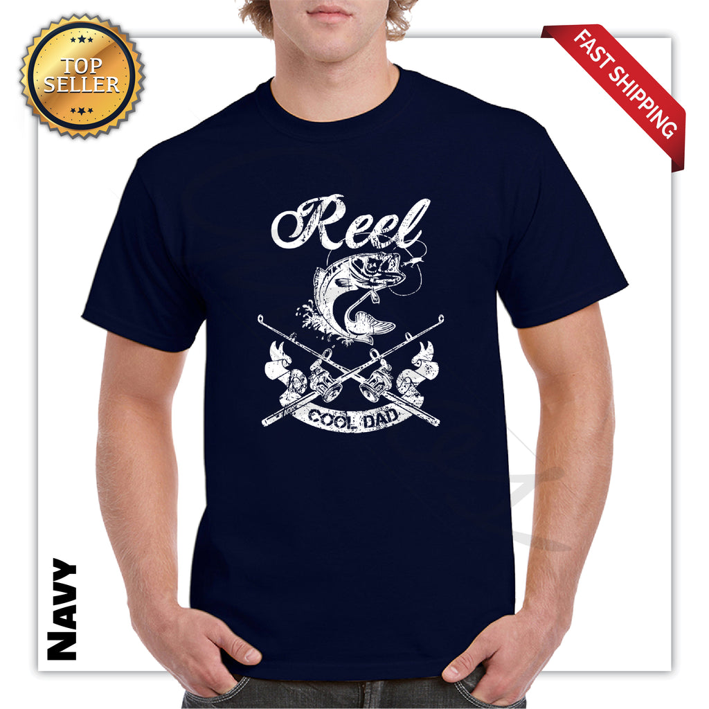 Reel Cool Dad Funny Men's Graphic T-Shirt
