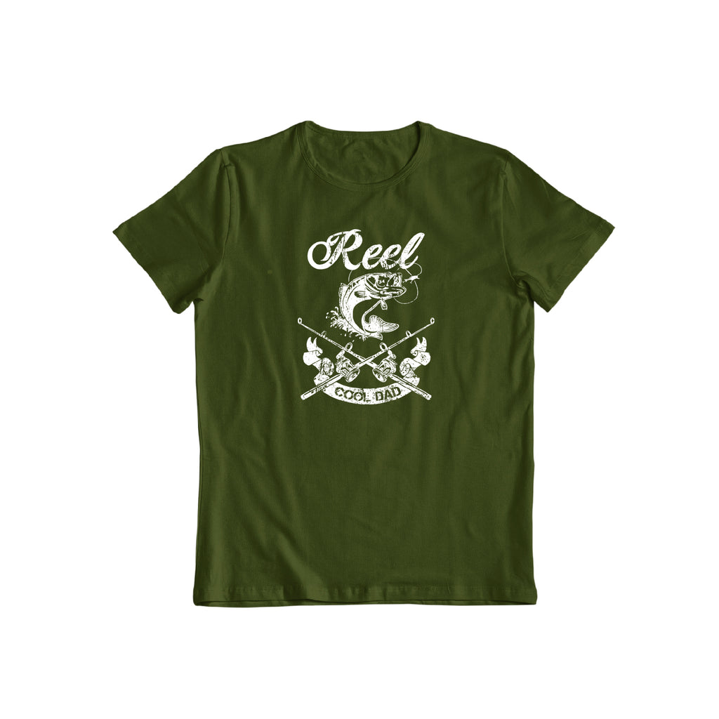Reel Cool Dad Great father's day casual Fishing Tee Funny Men's Gift  T-shirt