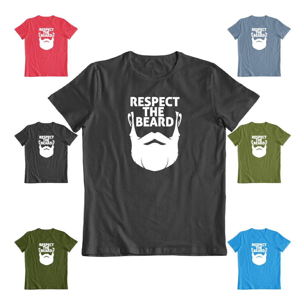 Respect the beard humor party gaming gift Funny gift t shirt
