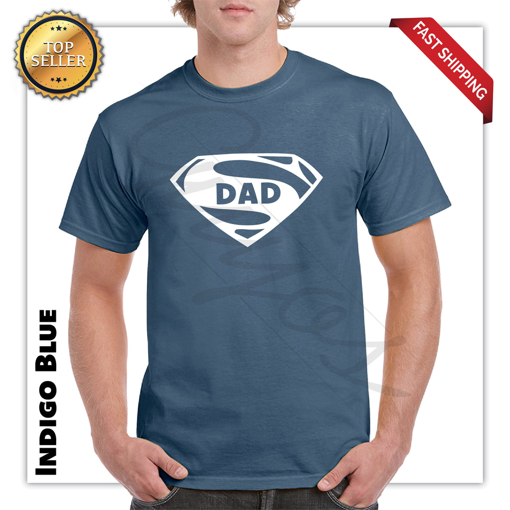 Super Dad Funny tee Fathers day Dad Gift Printed T-Shirt