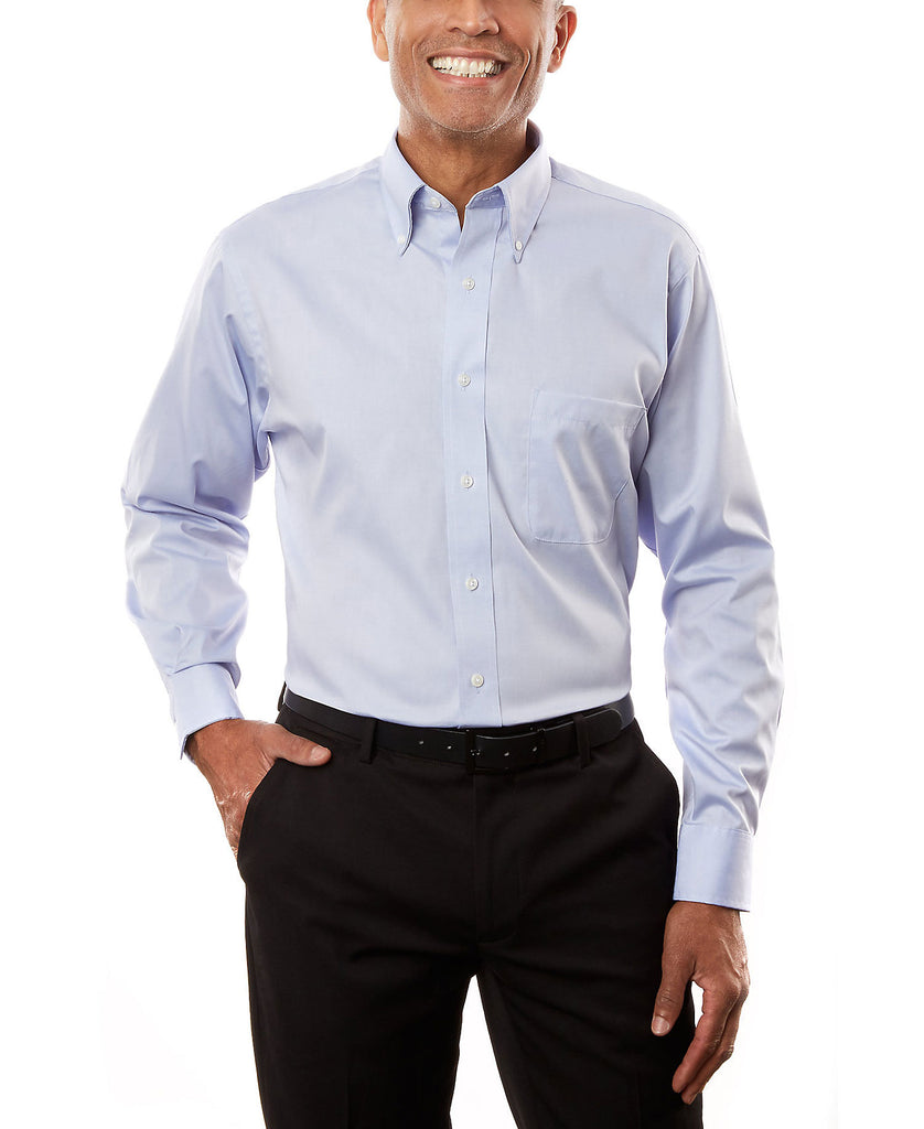 Van Heusen Men's Long Sleeve Pinpoint V0067 - guyos apparel.com