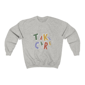 """take care."" sweatshirt (grey)"