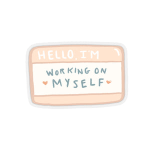 """hello, i'm..."" sticker"