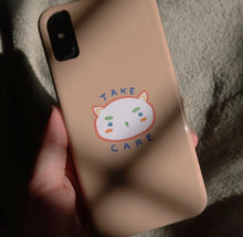 "Load image into Gallery viewer, ""take care."" phone case (peach)"