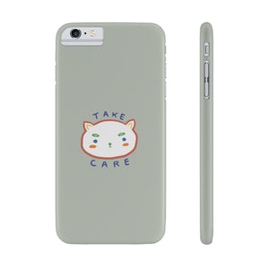 """take care."" phone case (mint)"