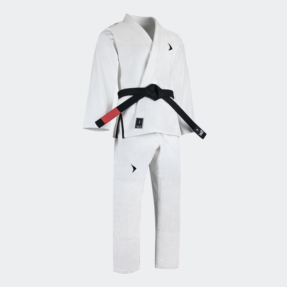 vali Isso BJJ Gi kids youth children boys Brazilian Jiu Jitsu Pearl Weave Kimono light white black