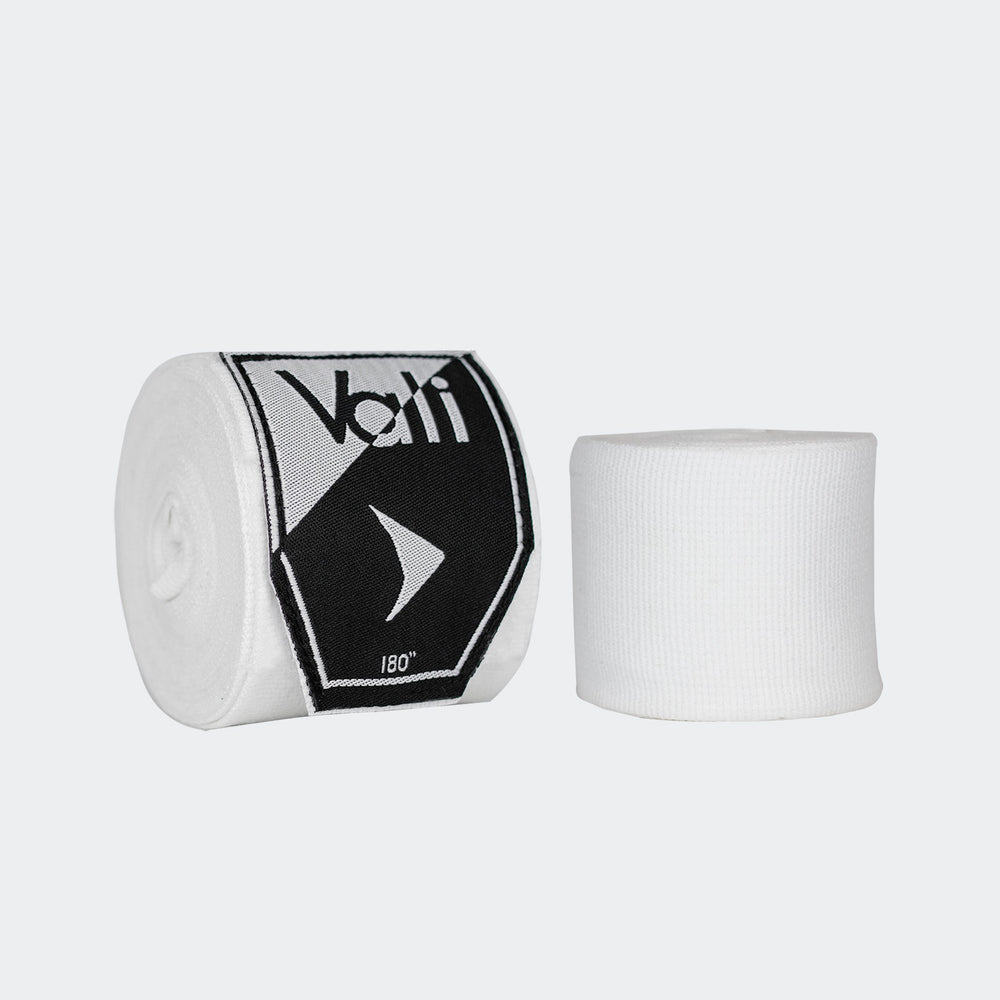 "Vali | Lotus boxing Hand Wraps 108"" Stretch For MMA Kick Muay Thai sparring training fight competition white"