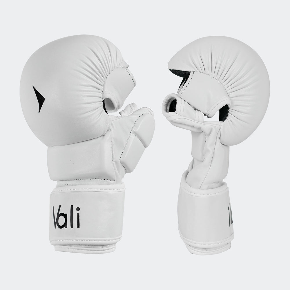 vali - mma hybrid gloves sparring grappling shooter bag gloves training white