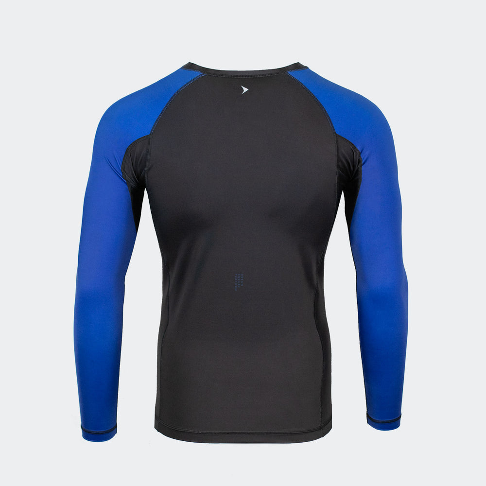 vali mma rash guard compression rashie for no gi ranked bjj jiu jitsu long sleeve black blue