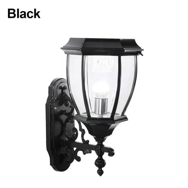 1.2W IP55 Waterproof Aluminum Solar Powered Wall Outdoor Led Gardens Lamp