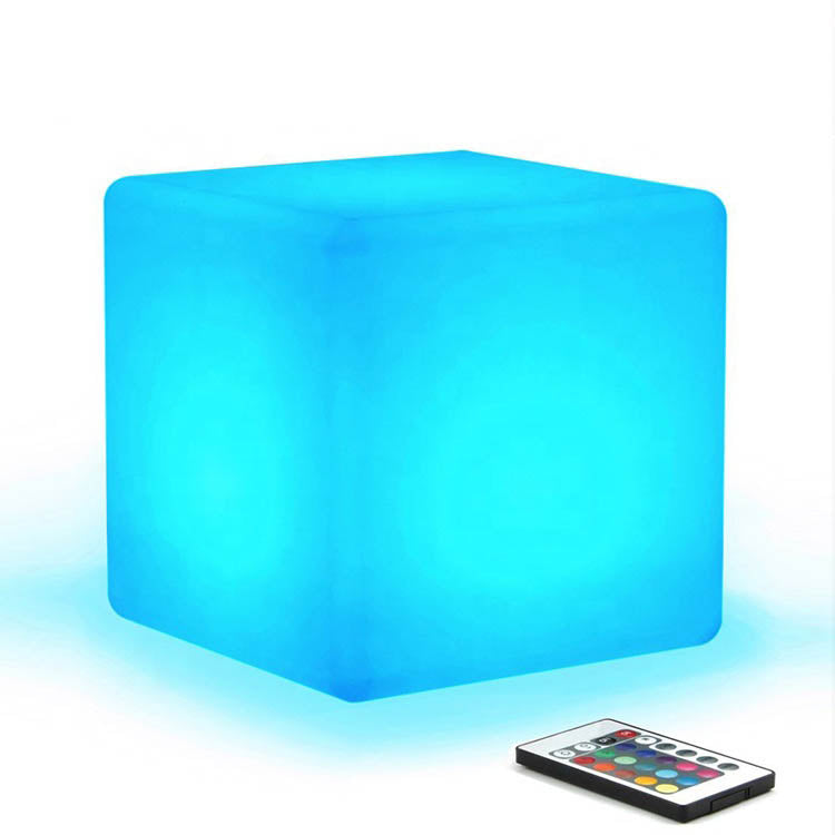 Solar Cube LED lights  10cm 20cm 30cm 40cm 50cm 60cm Led Bar Furniture Plastic RGB illuminated