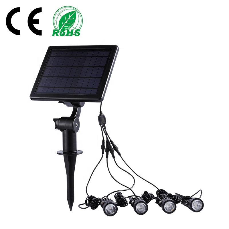 4 Head Solar Power Spotlight IP65 Waterproof Narrow Beam Led Solar Spot Garden Light Outdoor