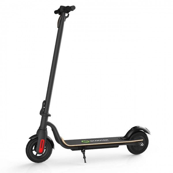 S10 Ultralight Folding Electric Scooter Intelligent BMS 7.5Ah 25 km/h With Light With Solid Pneumatic Tire - Black-USA