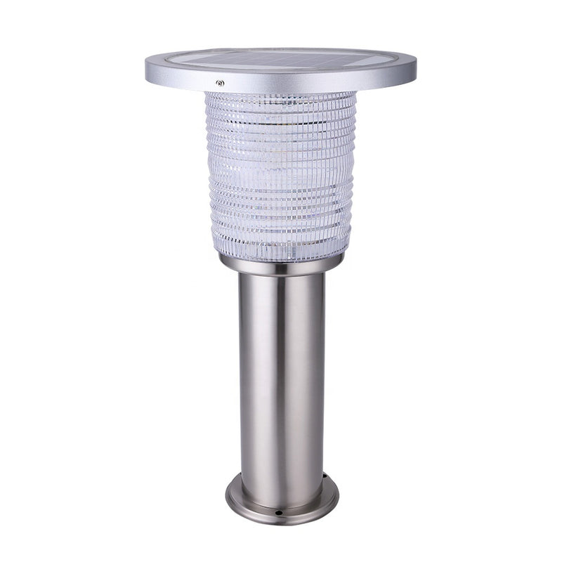 600MM 800MM High Brightness 5W LED IP55 Waterproof Solar Lawn Light Stainless Steel Outdoor Solar Bollard Garden Light