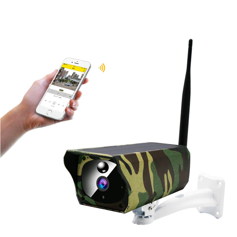 1080P IP67 camouflage waterproof wifi solar panel charging cctv IP camera outdoor wireless security solar camera