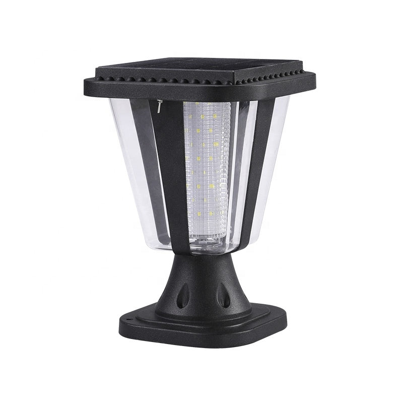 Zhongshan Manufacturer IP65 Waterproof Aluminum Material 99led Square Main Gate Pillar Outdoor Solar Garden Light