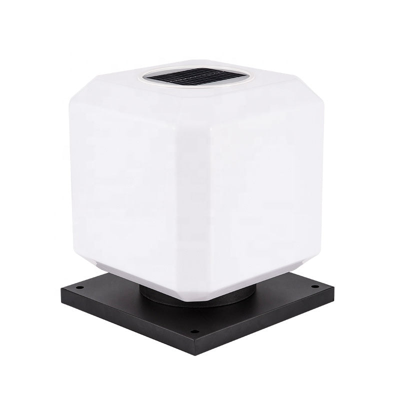 3.7V Voltage IP55 Waterproof Outdoor Minimalist Style 2W 3.5W Garden Post Solar Square Led Main Gate Pillar Light