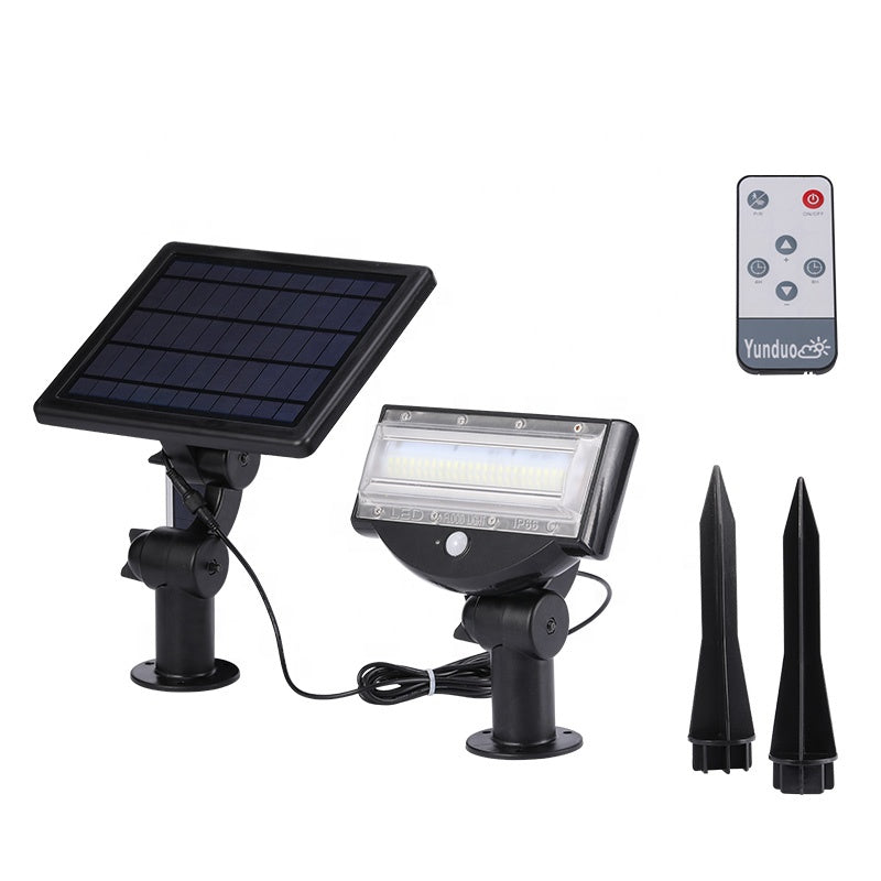 800LM 6W LED Wireless All In One Solar Powered Flood Light Motion Sensor
