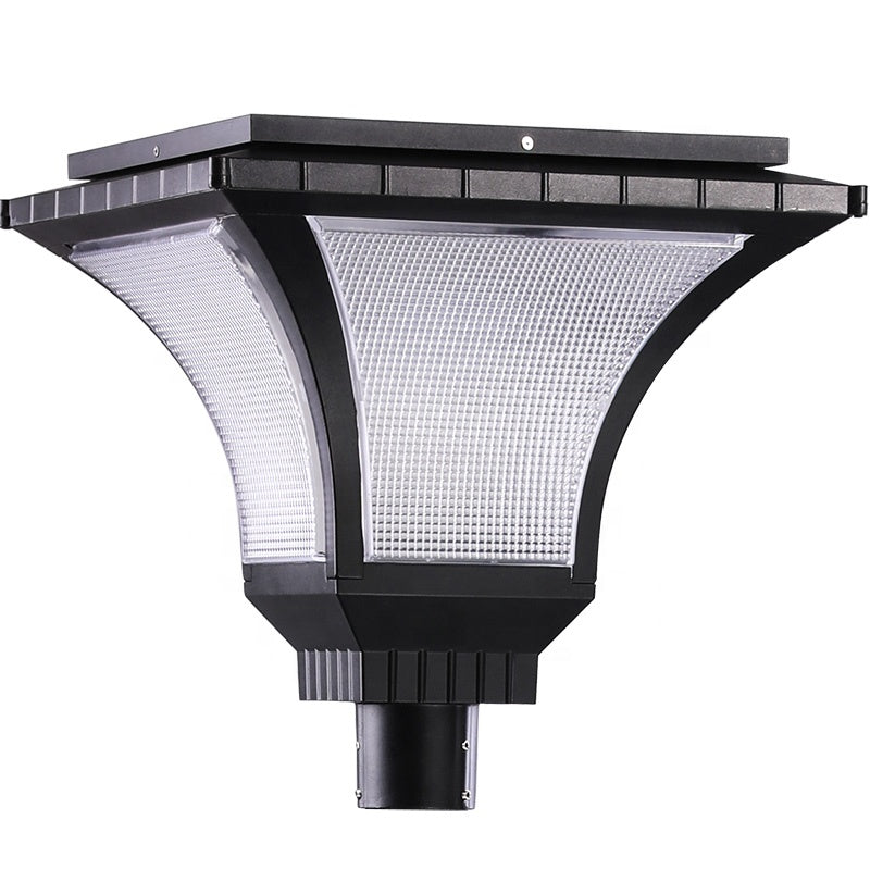 High Performance Outdoor IP65 Pole Area Lighting Stand Alone Pack Garden 20W Solar Powered Led Post Top Light