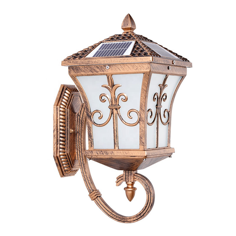 Aluminum Garden IP55 Waterproof Outdoor Solar Wall Led Light