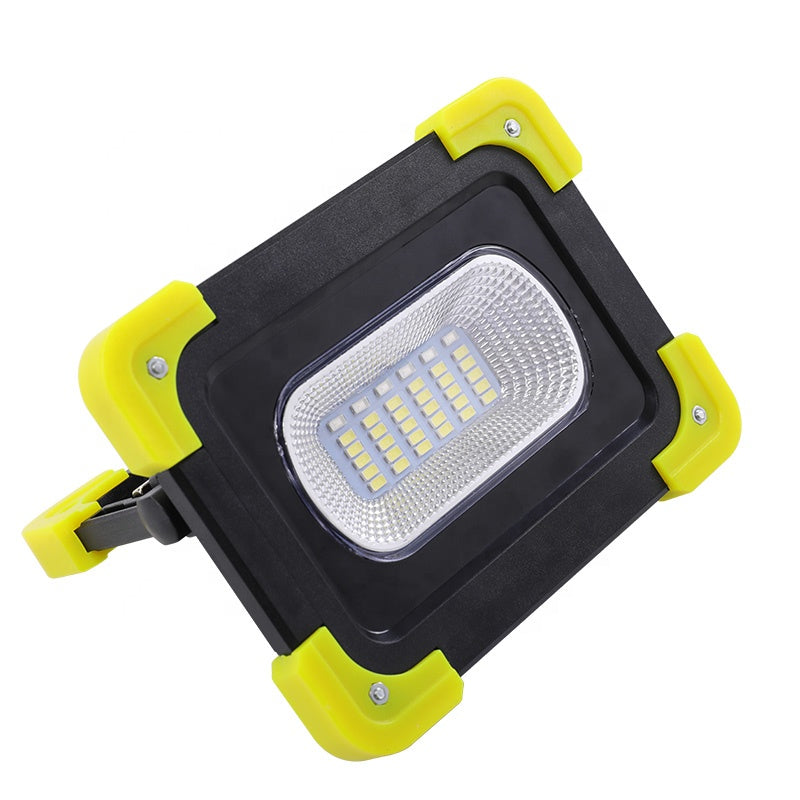 Multifunctional Rechargeable Power Bank Outdoor Searchlight Portable USB Charging/Solar Powered Led Flood Cordless Work Light