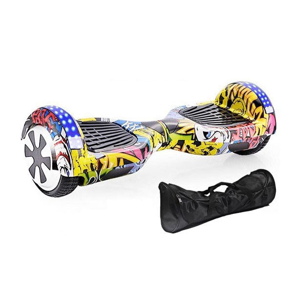 Graffiti X3 Series | 6.5 Inch Hoverboard With Bluetooth and LED-3 Colors: Dancing Yellow-Lighing Black-Camo Pink