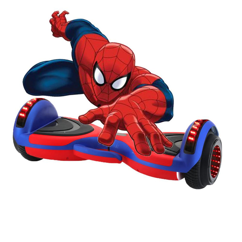 Spider G4 | 6.5 inch hoverboard spiderman style powder with Bluetooth and wheel light