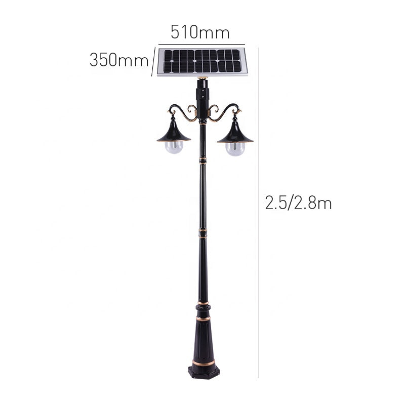 2.5M Factory Price High Cost Performance Outdoor Pathway Yard Lighting Solar Sensor Led Street Lamp