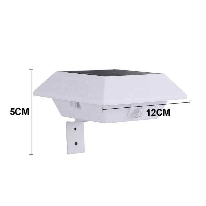 4LED Outdoor Courtyard Landscape Wall Lamp Waterproof Solar Gutter Light