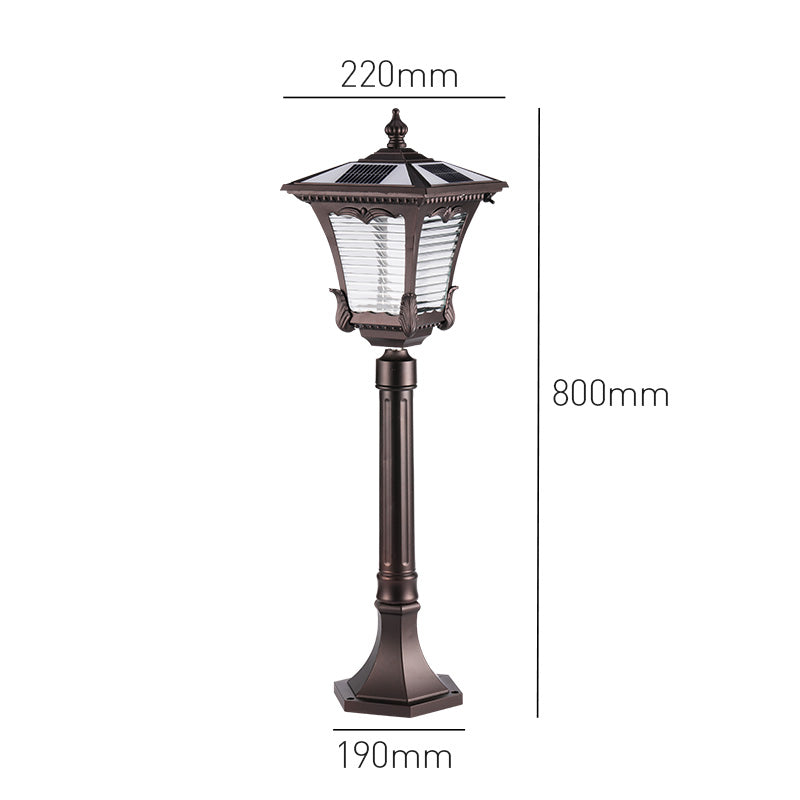 80CM 2W Aluminum Auto On/Off Waterproof Outdoor Garden Solar Led Bollard Light